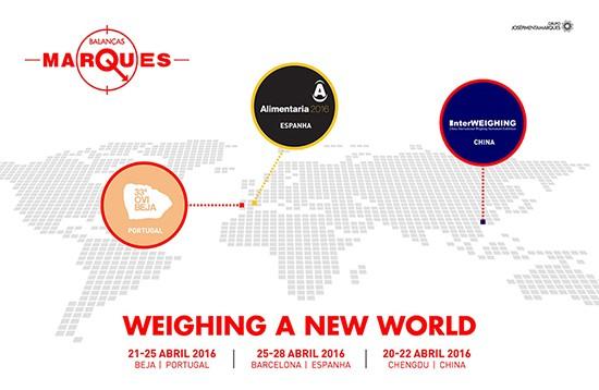Balanças Marques participa em três feiras de diferentes países