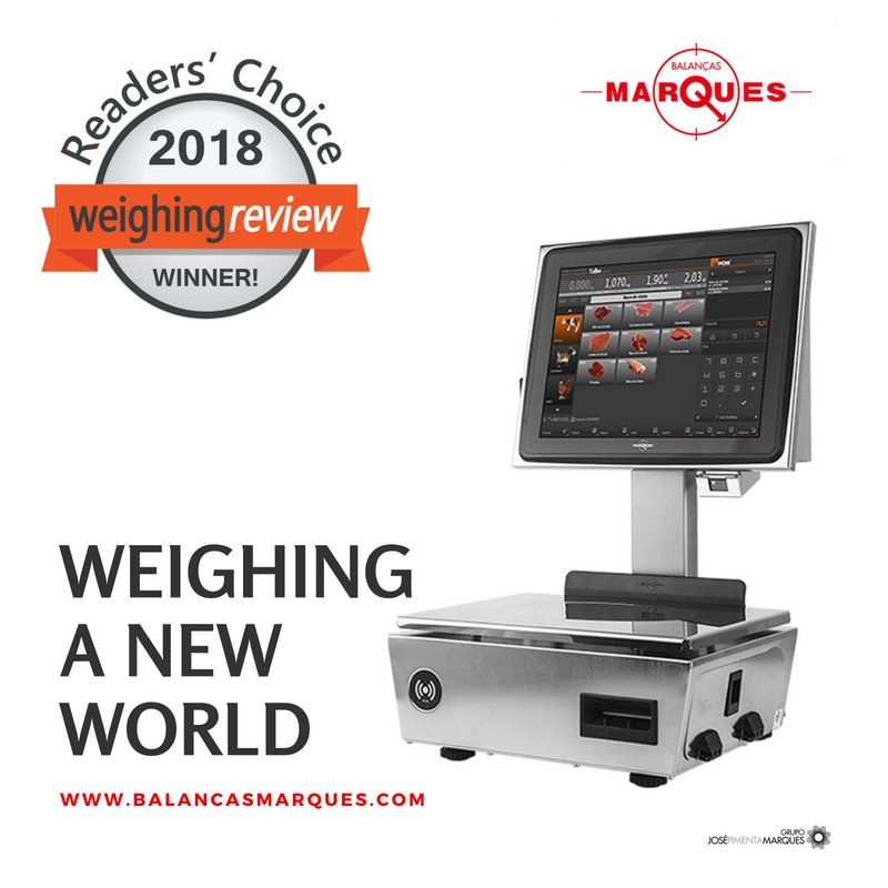 Balanças Marques nomeada nos prémios Weighing Review Awards 2018